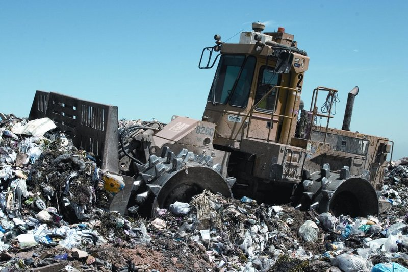Landfill compactor Clean up your mess
